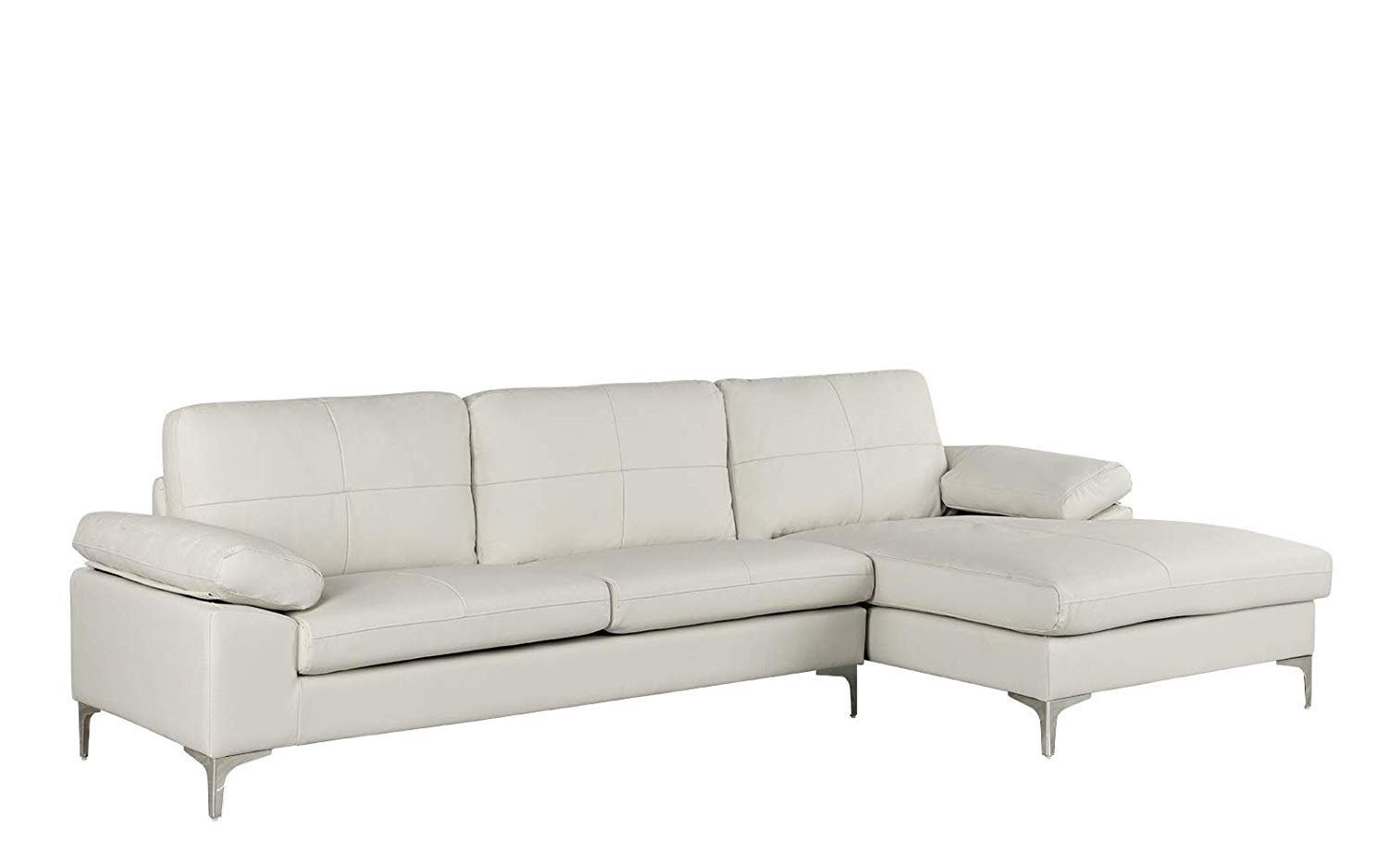 Sofa L Images Details About Large Leather Sectional Sofa L Shape Couch With Chaise 108 7