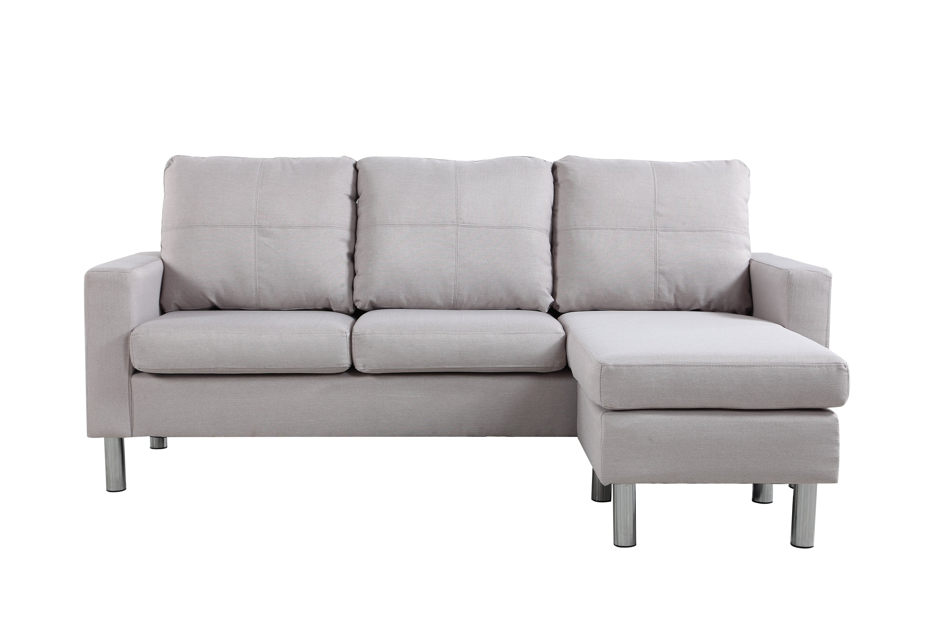 Moderne Sofa Details About Moderne Living Room Reversible Linen Fabric Sectional Sofa Beige