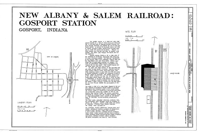 Cover sheet with location and site plans - New Albany  Salem