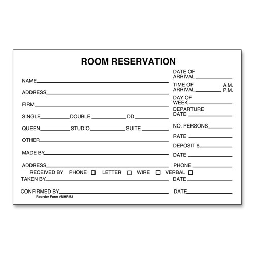 Hotel Room Reservation Forms LodgMate - free reservation forms