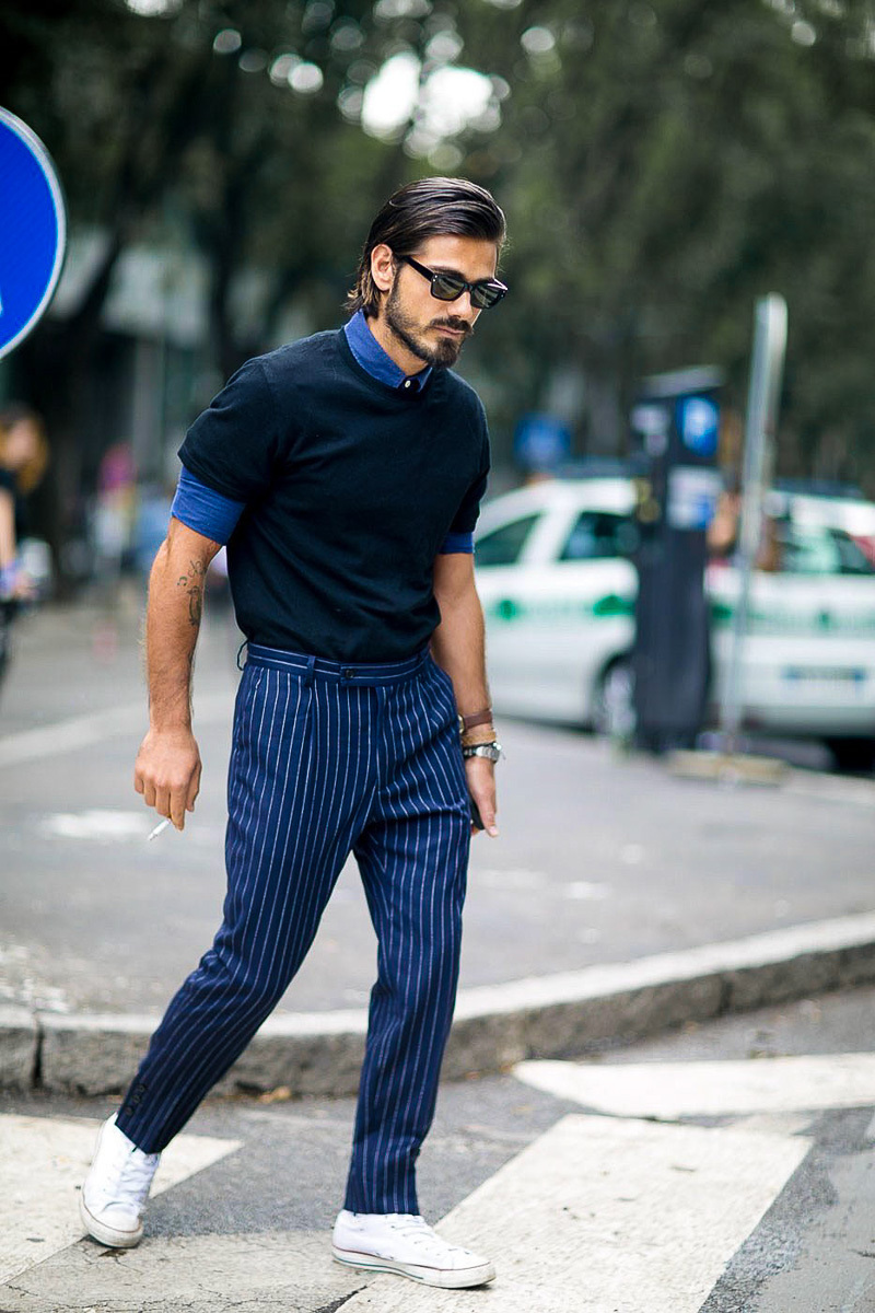 Black t shirt navy pants men s blue denim shirt black crew neck t shirt