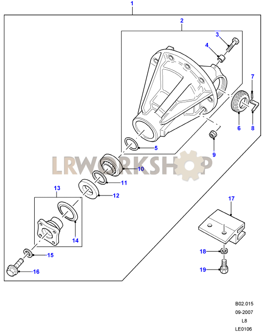 front axle diagrams land rover workshop