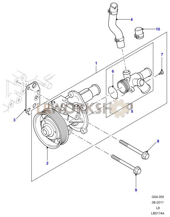 land rover defender engine diagram