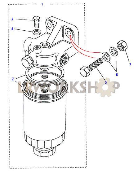 diesel fuel filter cartridge