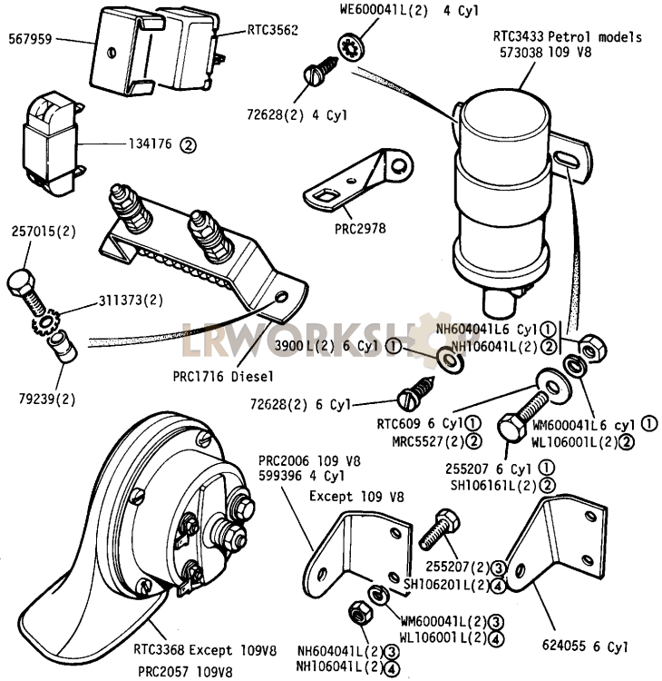 land rover series 3 electrical diagram