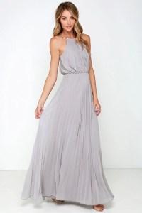 Bariano Melissa Dress - Light Grey Dress - Maxi Dress ...