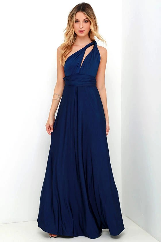 Jumpsuit Blau Elegant Pretty Maxi Dress - Convertible Dress - Navy Blue Dress