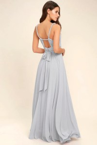 Lovely Light Grey Dress - Maxi Dress - Gown - Bridesmaid ...