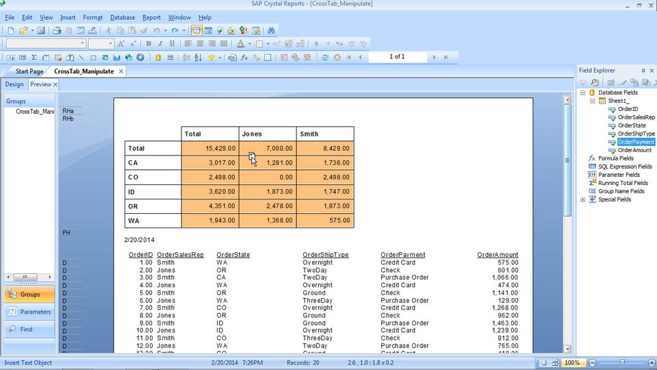 Crystal Reports 2013 Essential Training