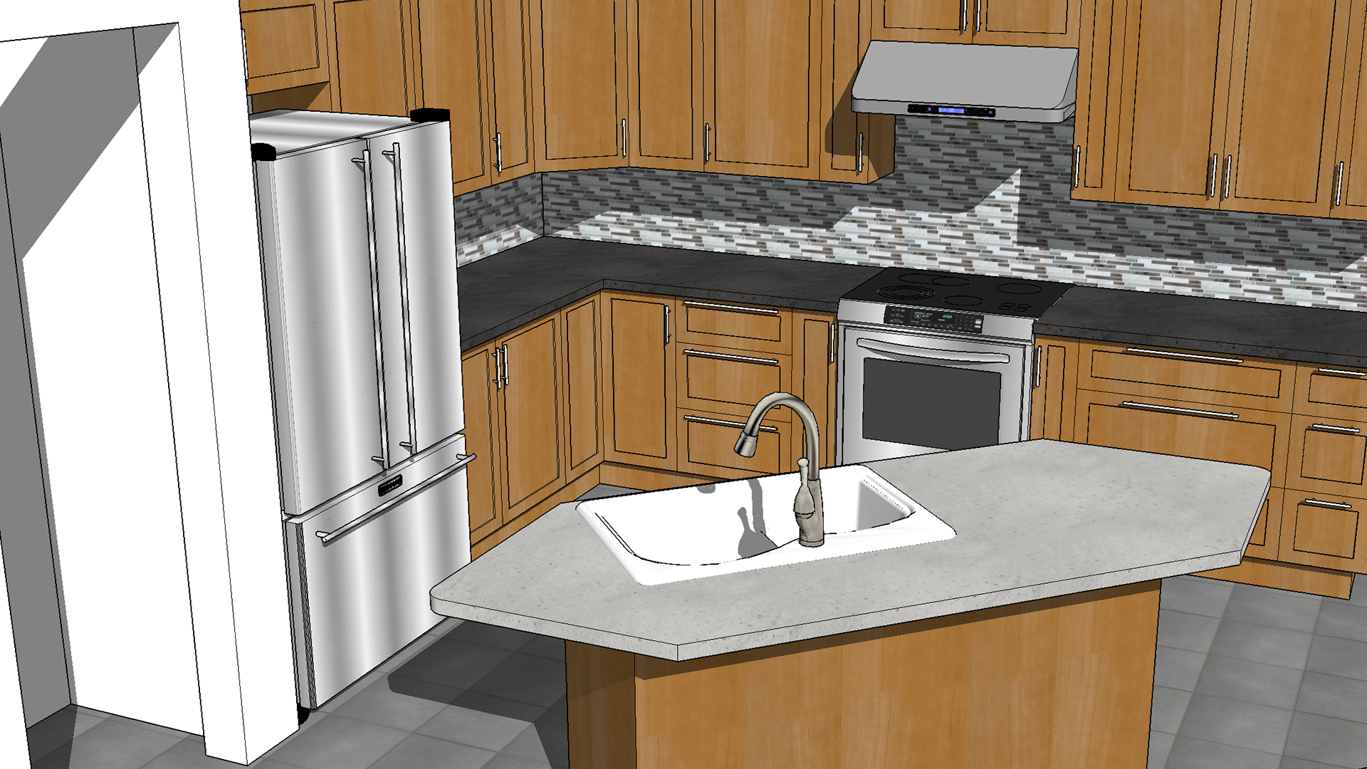 Kitchen Island Design Template Sketchup Kitchen Design