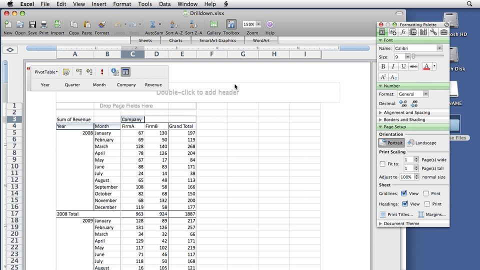Excel 2008 for Mac Pivot Tables for Data Analysis