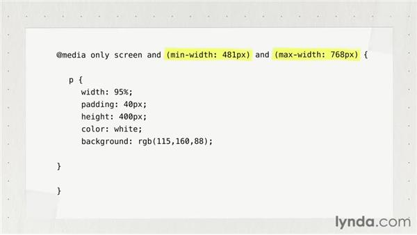 Creating breakpoints with media queries