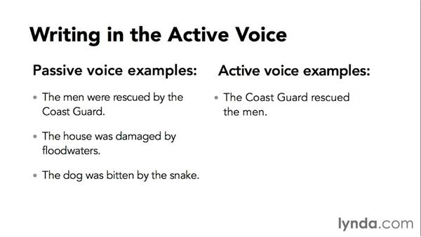 Writing in the active voice