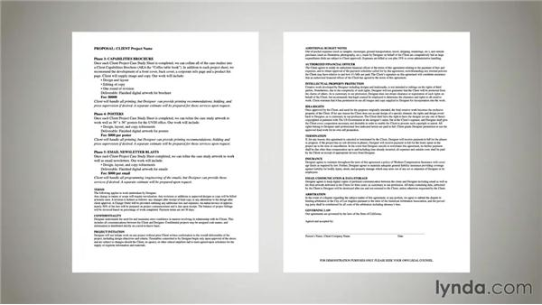 Reviewing a sample contract - contract paper sample