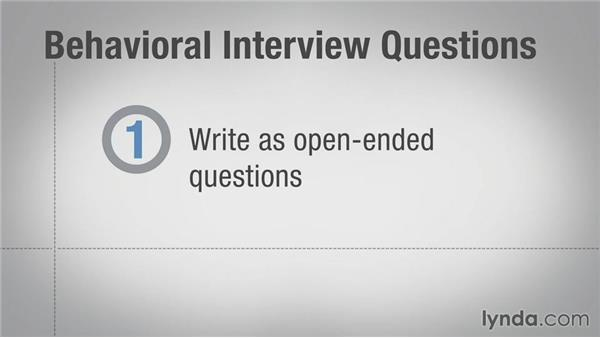Writing effective behavioral interview questions