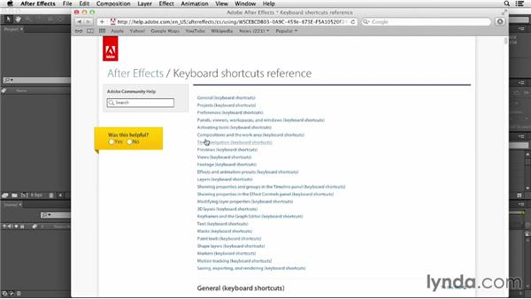 Working with keyboard shortcuts