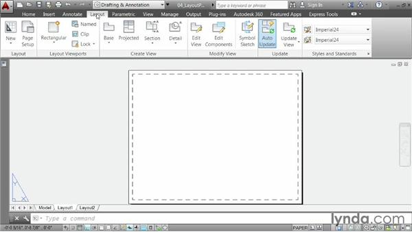 Creating a layout, part one Choosing paper size
