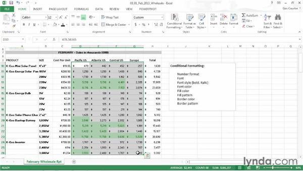 Understanding conditional formatting