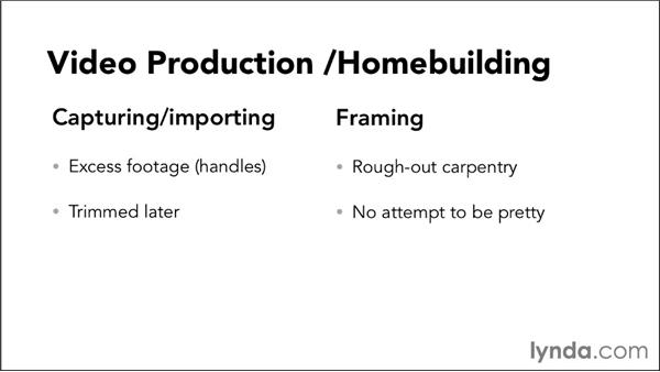 Comparing script writing to home building