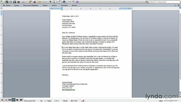 Writing a letter of recommendation