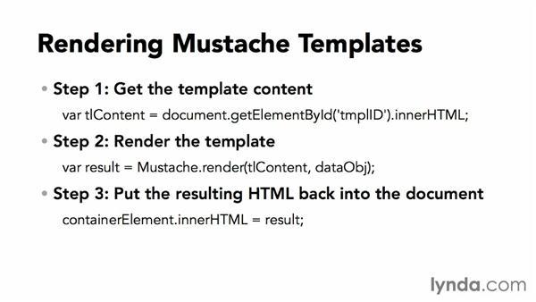Simple Mustache templates