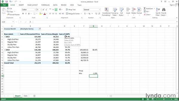 Performing a price/mix analysis