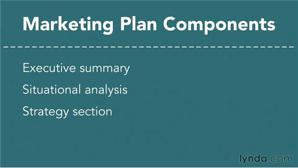 Creating the marketing plan - Components Marketing Plan