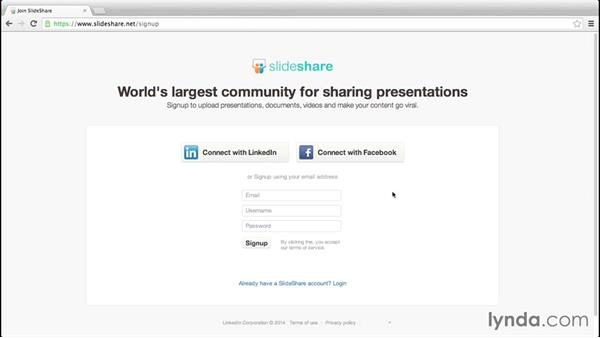 Setting up your SlideShare account