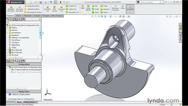Configuring the splines of the flywheel