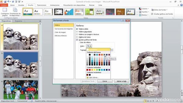 Quitar el fondo de una imagen en PowerPoint