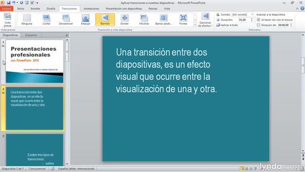 Importancia de las transiciones en PowerPoint