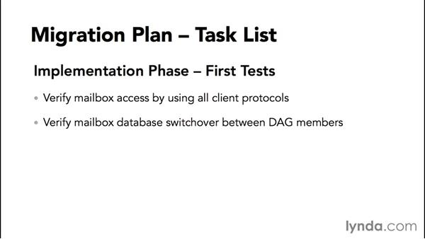 Building a migration-tasks checklist