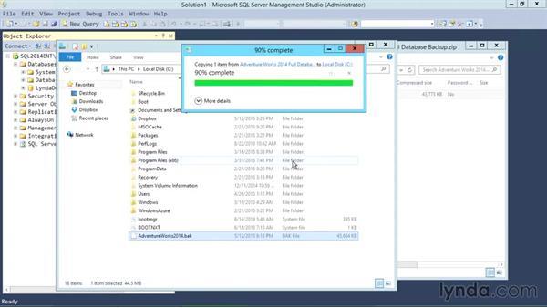 Installing sample database