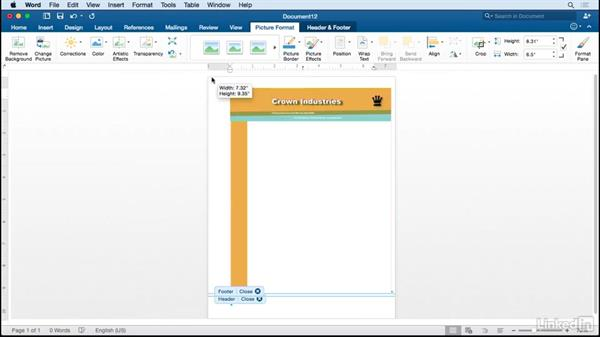 Create an editable Word letterhead based on an InDesign design