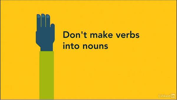 Use active verbs in headlines - active verbs