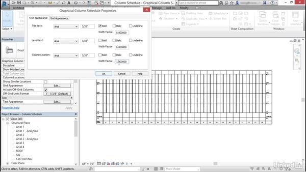 Create and modify column schedules