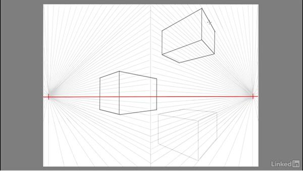 Drawing a 3D asymmetrical cube in space