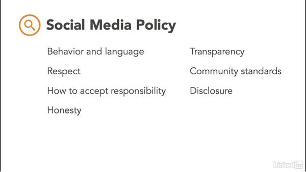Craft a social media policy
