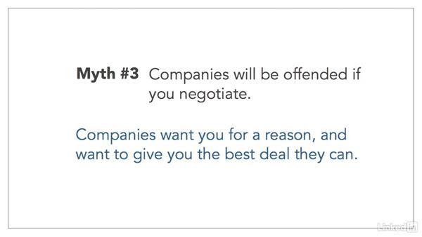 Salary negotiation myths