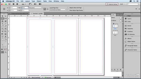 Create a 3-panel brochure, folded size