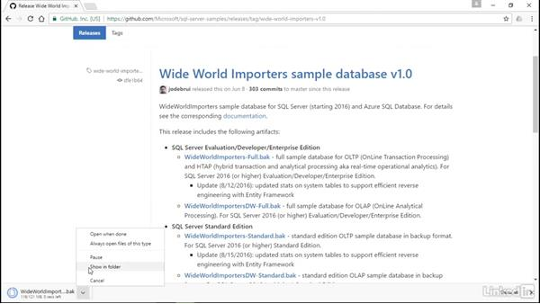 Install a sample database