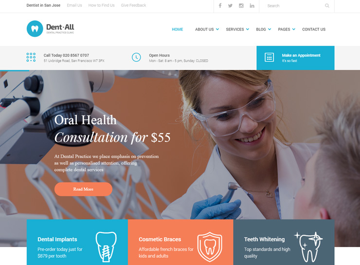 10+ Best Dental Clinic and Dentist WordPress Themes 2017