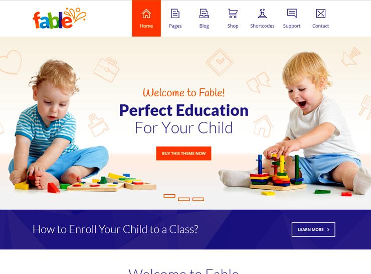 10+ Best Kindergarten and Child Care WordPress Themes 2017