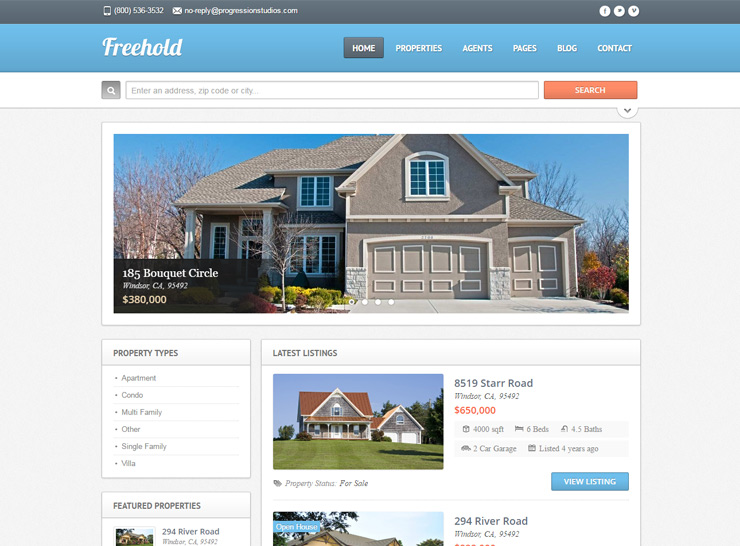 15+ Best Responsive Real Estate WordPress Themes of 2017