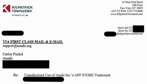 Apple Continues Sending Cease and Desist Letters Regarding \u0027App