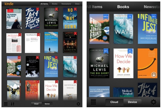 Kindle for iOS Updated with Retina iPad Support, New Library Design