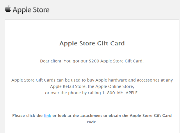 Email Gift Vouchers Malicious Apple Store Gift Card Scam Emails Target Users With