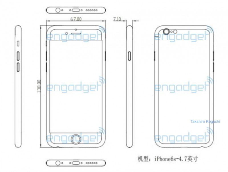 Purported Schematic Suggests \u0027iPhone 6s\u0027 Could Be Slightly Thicker