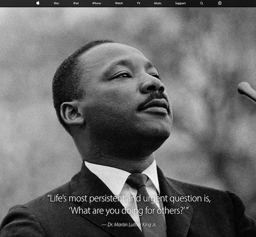 Apple Honors Dr Martin Luther King Jr With Homepage Tribute - Mac