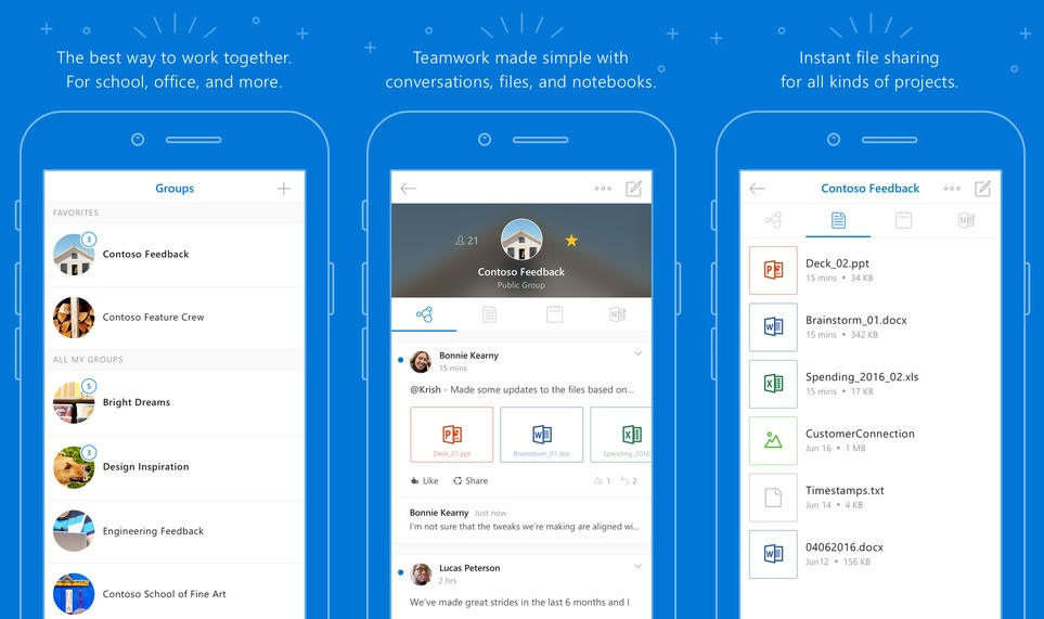 Update My Microsoft Office Microsoft Overhauls Outlook Groups Ios App For Office 365 Users